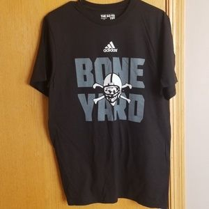 NEW wot ... black Adidas bone yard shirt .. Med